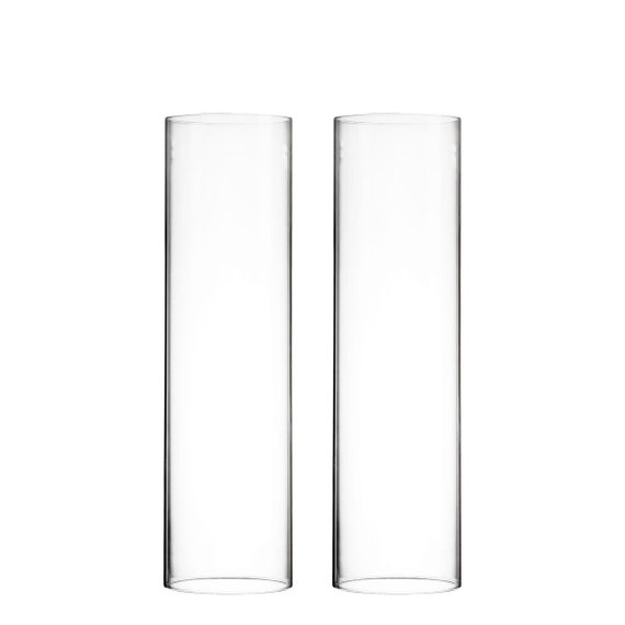 Open Ended H 18 D 4 75 Candle Sleeves, Hurricane Glass Candle Covers