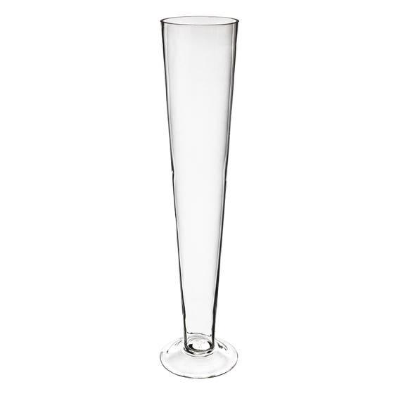 Trumpet Pilsner Glass Vase H 20 Gtr134 Wholesale Pack Etsy