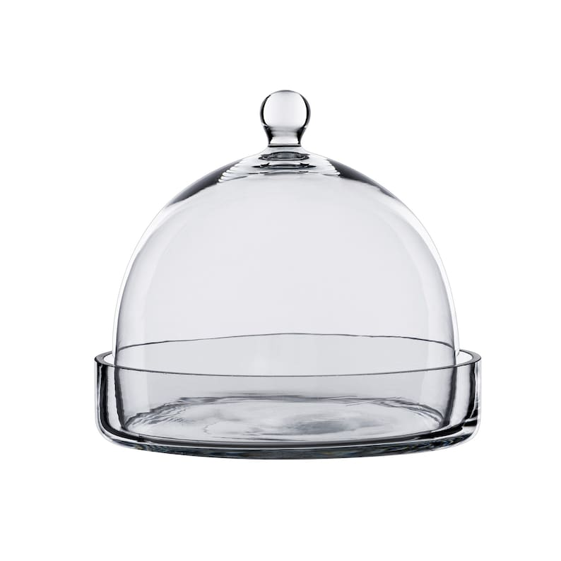 Glass Cloche Jar H-7.5 Open-7 Dome with Knob and Glass image 0