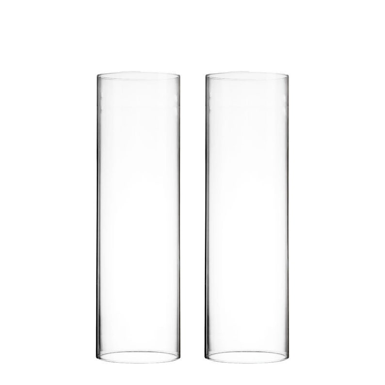 Glass Cylinder Open Ends Candle Shade 6 pcs Open Ended H-18 Hurricane Candle Holders Wholesale D-4 Candle Sleeves Chimney Tube