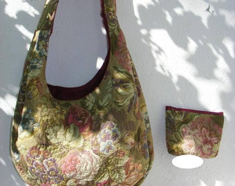 The rescued tapestry bag: 2 Monet with its matching wallet sold