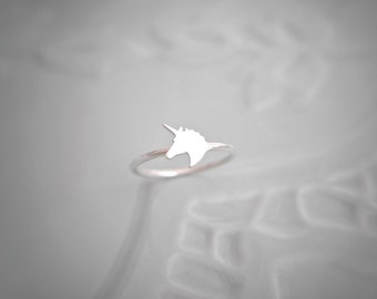 Sterling Silver Unicorn Ring  / 925 / stacking ring / gifts for her / hypoallergenic / stocking filler / unicorn gift / gift ideas