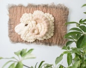 Merino Ram Felt Wall Hanging with Horn