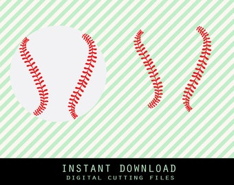 Baseball Stitches Svg ,Png,JPG ,DXF cutting file Cricut silhouette cameo cut file - Instant Download - (no.2)