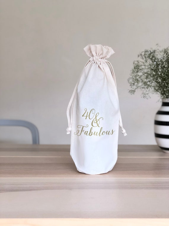 40 And Fabulous Wine Gift Bag 40th Birthday For Women