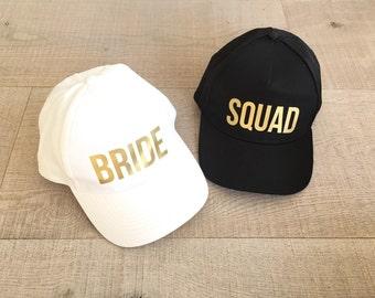 Bachelorette hat, Bride hat, Squad hat, Bachelorette party hat, Bridesmaid hat, Personalised party hat, Hen party hats, Wedding party favor