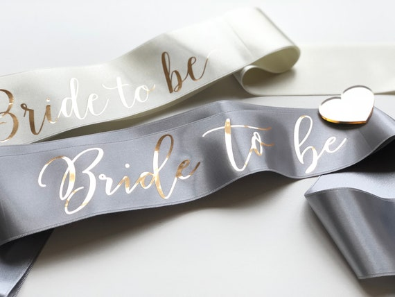 Hen Party//Night Sash With Images and Metallic Gold or Metallic Silver Print
