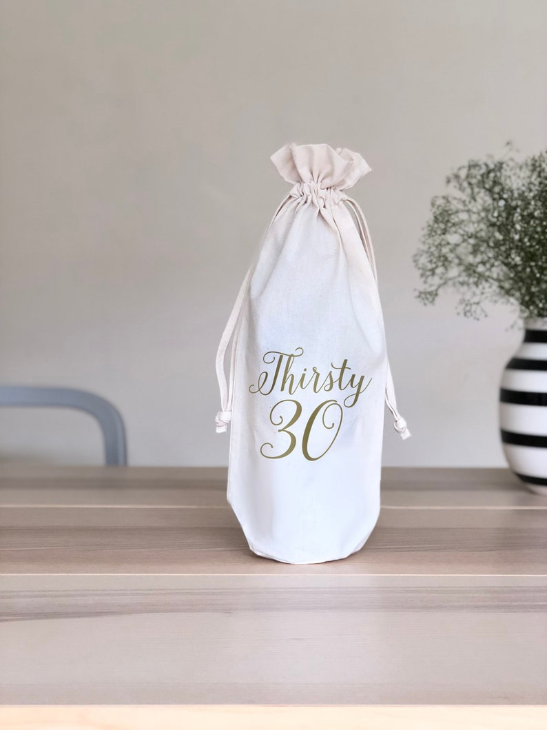 Thirsty 30 Wine Gift Bag 30th Birthday For Women
