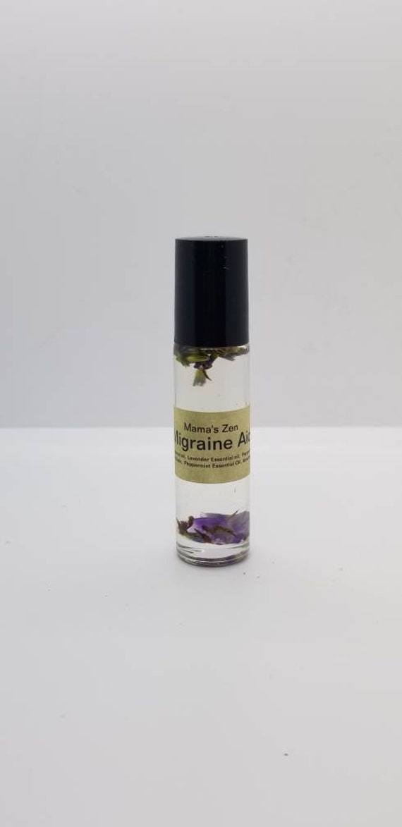 Migraine Aid Essential Oil Roller (Reiki Attuned Amethyst and Essential Oils