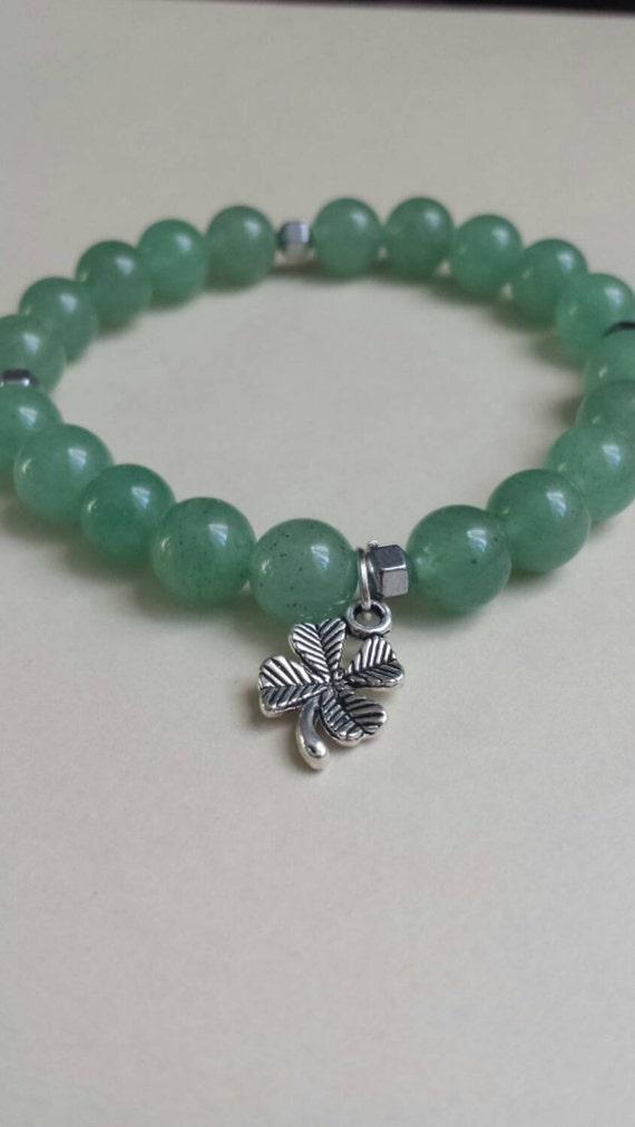 Luck of the Irish : Reiki Attuned Green Aventurine Healing Bracelet