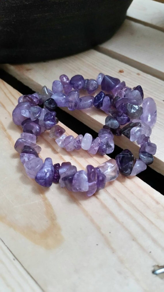 Chakra Bracelet : Reiki Attuned Amethyst for the Third Eye