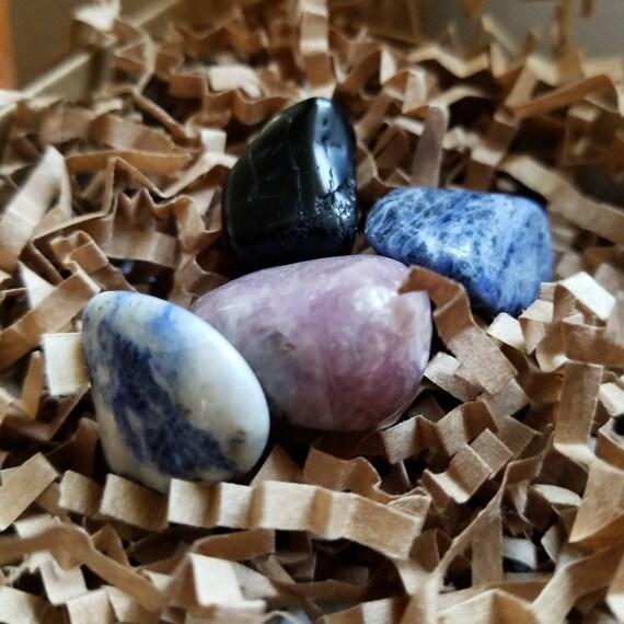 Anxiety Relief: Reiki Attuned Gemstone Set