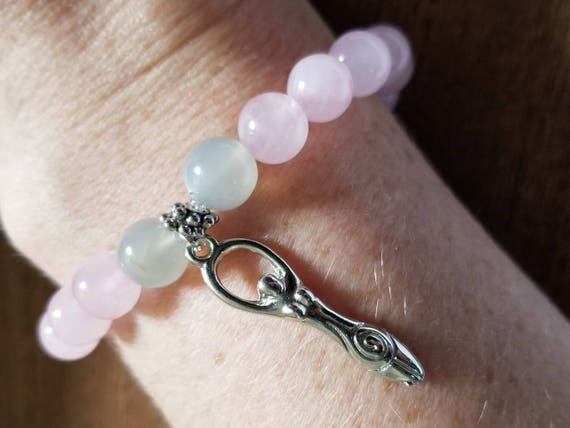 Manifest Miracles: Rose Quartz and Moonstone Fertility Bracelet
