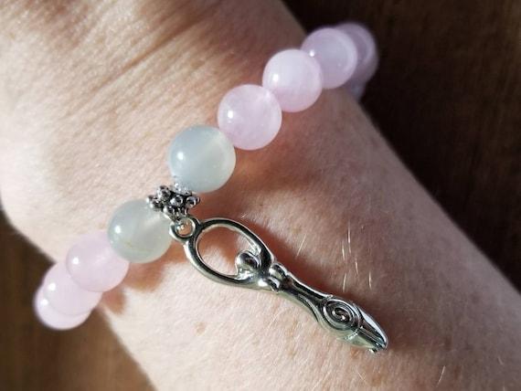 Manifest Miracles: Rose Quartz and Moonstone Fertility Bracelet
