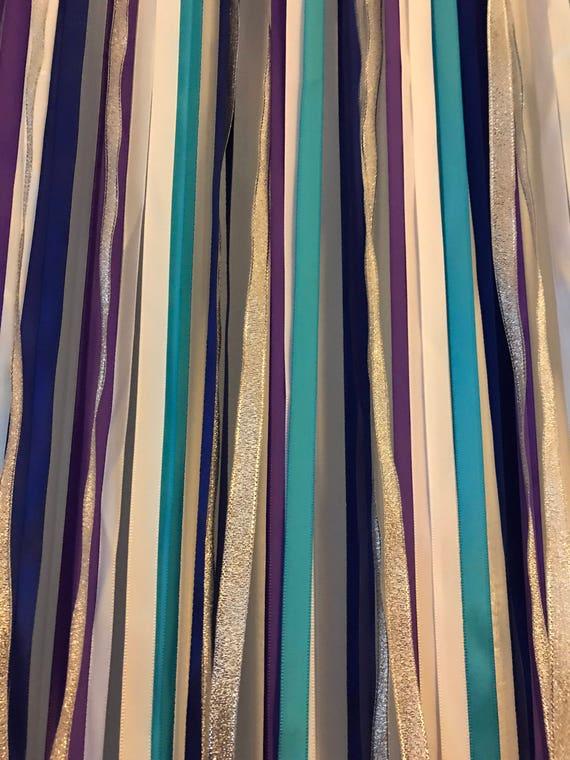 Frozen Party Decor Frozen Backdrop Ribbon Backdrop Blue And Etsy