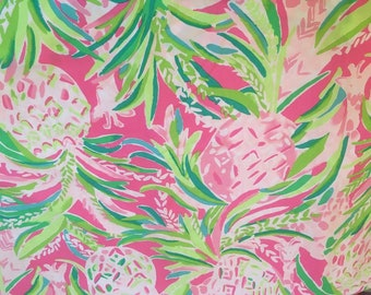 a9400ea31d38cb Alotta Colada fabric 6X6,9X18 or 18X18 inches~ Authentic Lilly Pulitzer ~ Lily