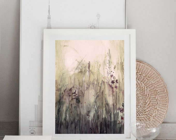 Meadow Watercolour Print