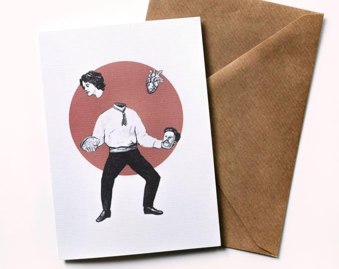 Juggler Valentines Greeting Card