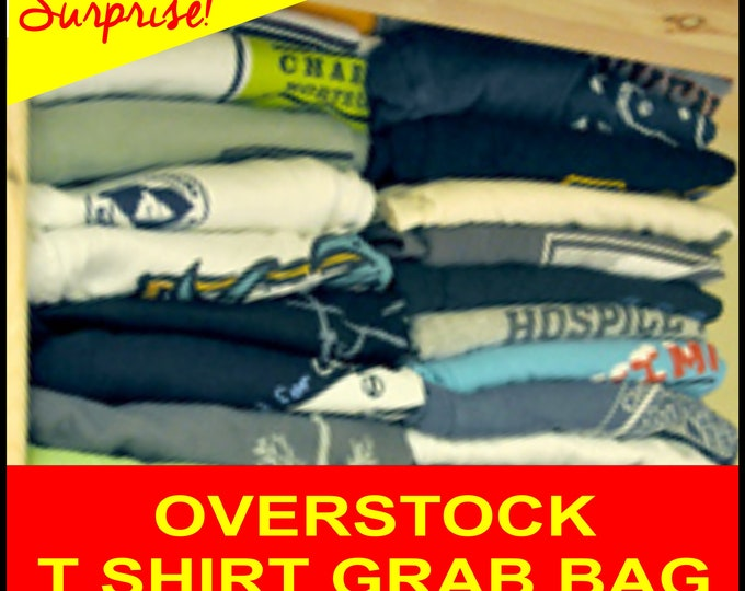 Mystery T shirt bundle - Graphic T overstocks plus a few other options - many sizes available