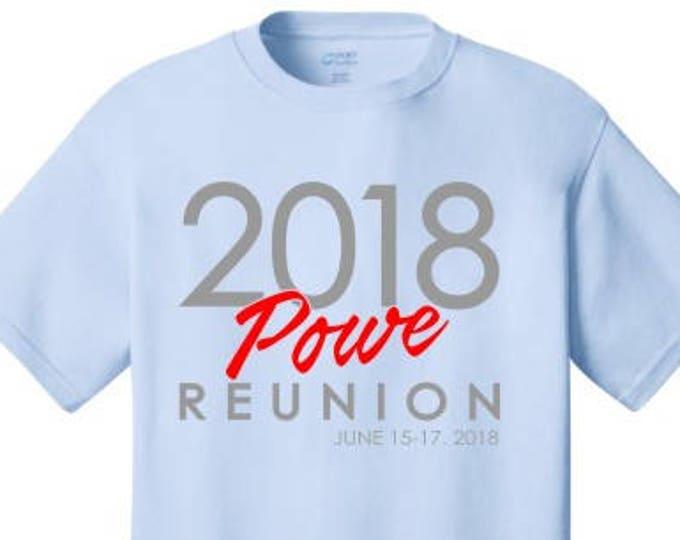 Powe Family Reunion T shirts 2018