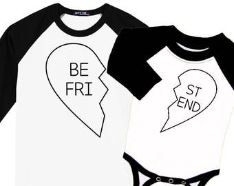 Best Friends Valentine (or any occasion!) Heart Raglan Baseball Style T Shirt sizes 0-3M to Adult Coordinating Family Set OUTLINE HEARTS