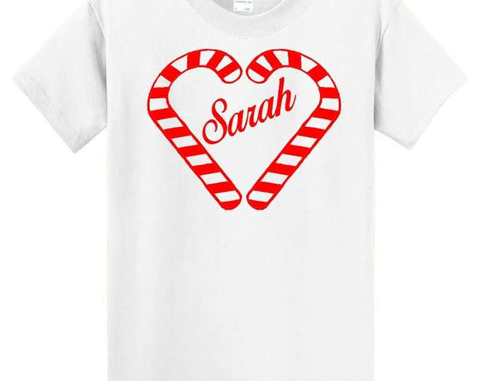 CANDY CANE MONOGRAM T-Shirt ab