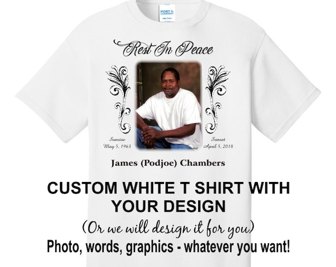 Customized FAMILY REUNION T shirt - personalize it with your photo, text, graphics - or let us design it for you! szs inf 6M-adult 6X
