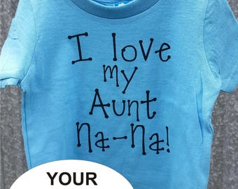 Infant, toddler, or young child personalized T shirt - YOUR MESSAGE - several shirt color choices - custom shirt