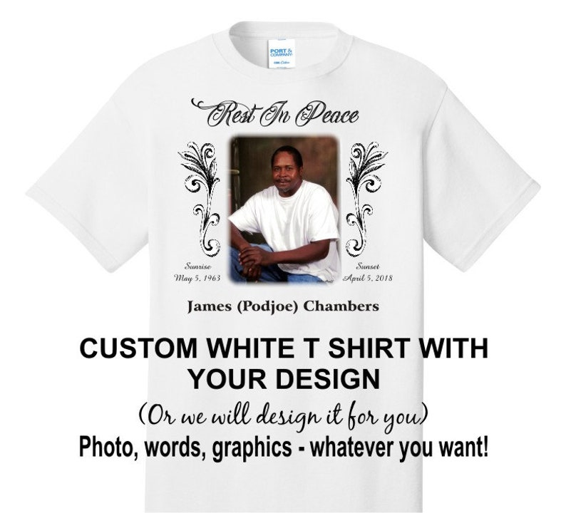 63dccd8f Completely customized PHOTO T shirt personalize it with your   Etsy