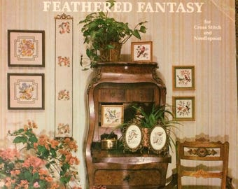 "Cross Stitch ""Feathered Fantasy for Cross Stitch and Needlepoint"" Alexa Designs 15 Charts"
