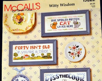 McCall's Witty Wisdom  Counted Cross Stitch