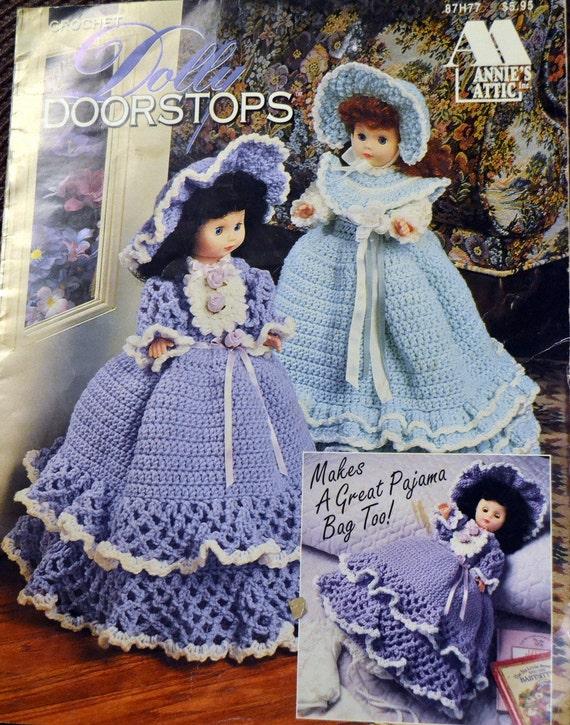 Dolly Türstopper und Pyjama Taschen häkeln Muster Annie