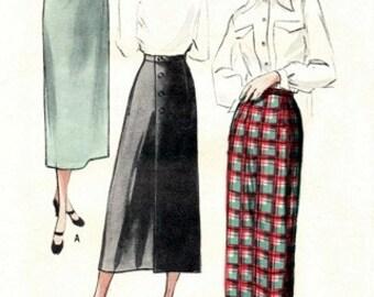 Butterick 5170 One-Yard Wrap Around Skirt / ca. 1950 / WAIST26 FACTORY FOLDS