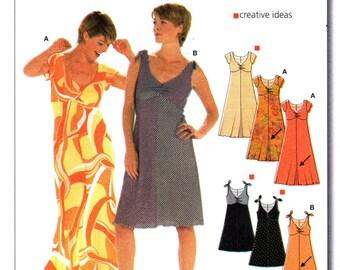 Burda 8227 Dance the Night Away Party Dress / 2000's SZ10-24 UNCUT