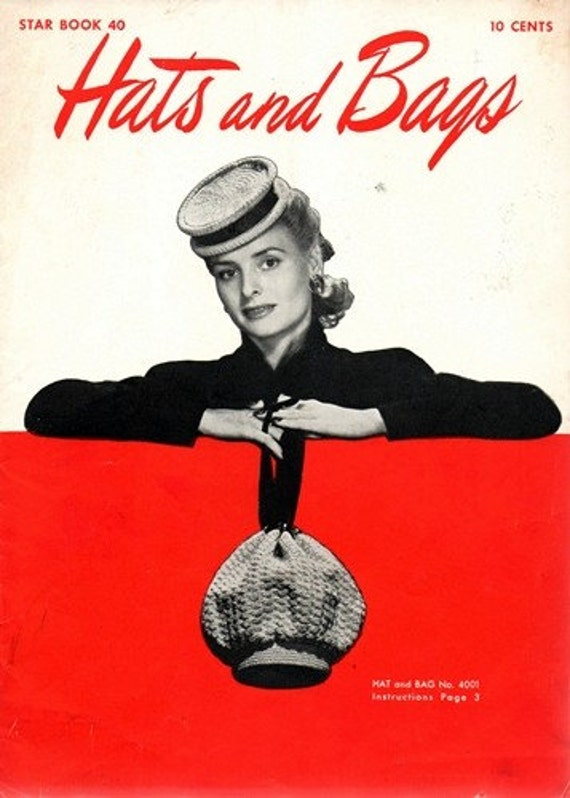 Star Book #107 1950s 33 Projetcs Hats Bags Crochet booklet Pattern PDF 0035