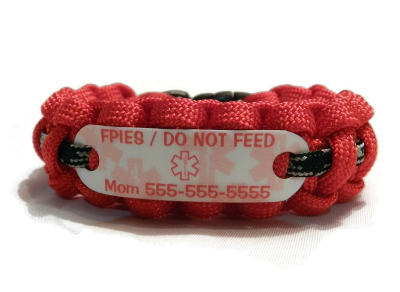 Medical Alert Bracelet >> Fpies Bracelet Medical Alert Jewelry In Choice Of Color For Children Or Adults Food Protein Induced Enterocolitis Syndrome