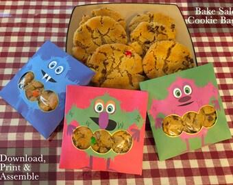 Bake Sale Individual Cookie Packaging, DIY Printable Cookie Sleeve