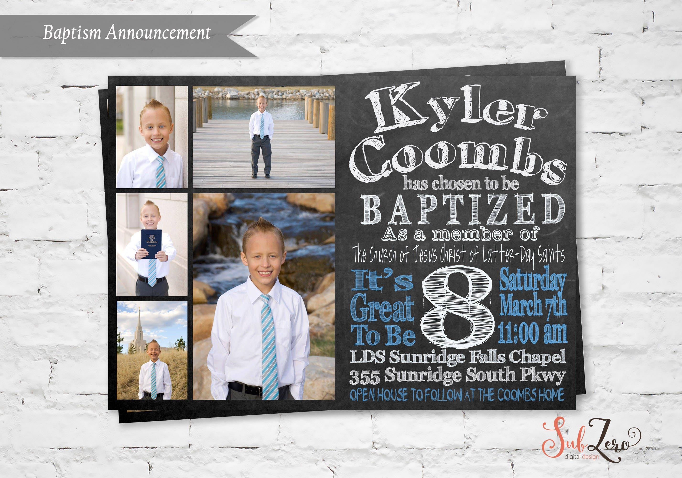 LDS Taufe Einladung LDS jungen Taufe Einladung Taufe