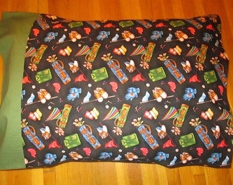 """Golf pillow covering, 20"""" x 27"""", golf pillow case, pillow case, pillow covering, standard size,100% cotton,created in Duluth, Minnesota"""