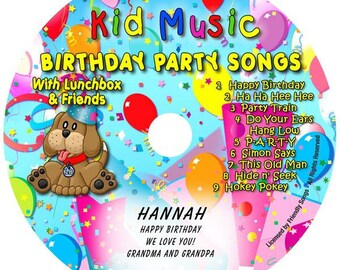 Kids Personalized Music CD Birthday Party Songs