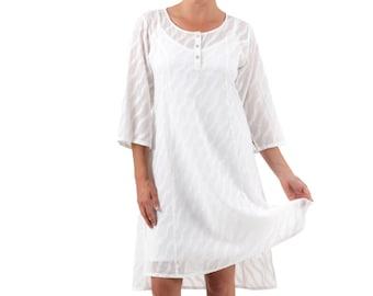 Cotton Shirt Dress, Ella - White