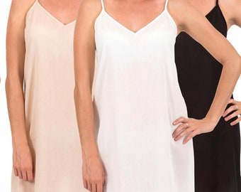cd0d62a607bc Cotton Dress Slip | Celine | Above Knee | XS - 5XL