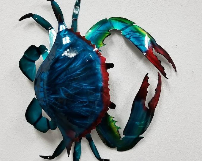 Handmade Metal Crab Wall Art