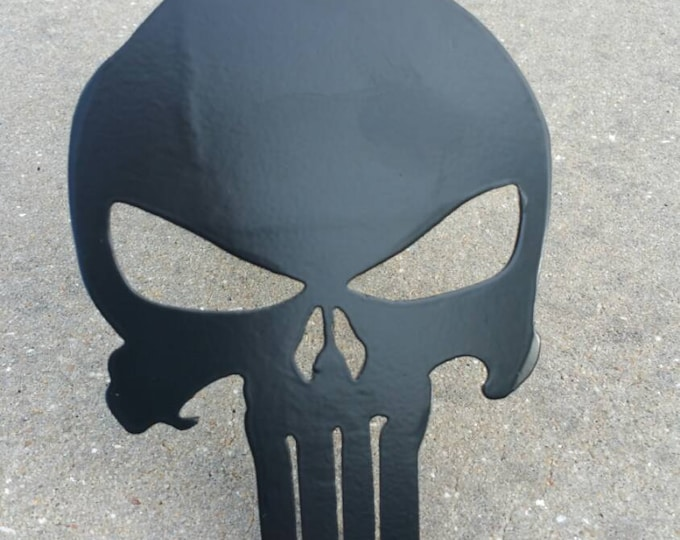 Punisher Trailer Hitch Cover or Tow Plug, Truck Accessories, Car Accessories, Steel Punisher Skull