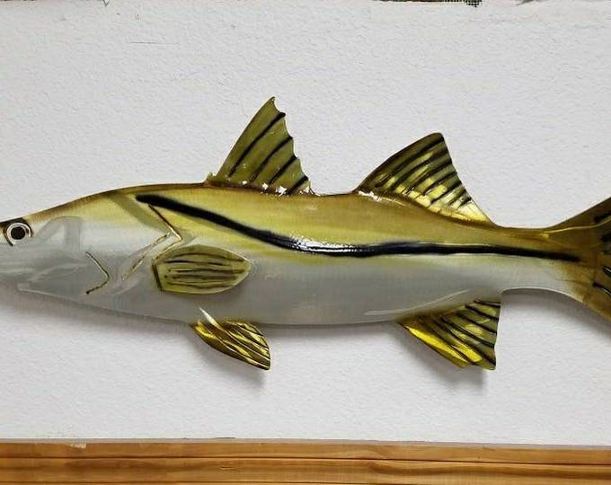 Aluminum Snook Wall Art, Fishing Enthusiast, Father's Day Gift, Birthday Gift for Him, Handmade Fish Art, Metal Snook, Metal Fish Decor