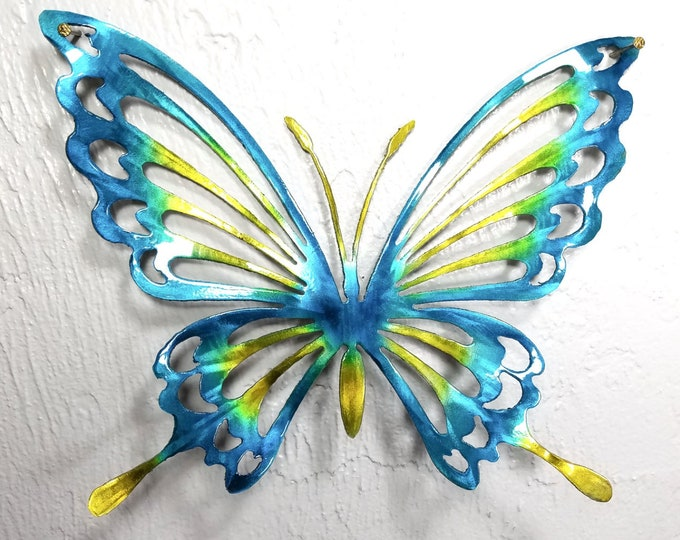 Metal Butterfly Wall Art, Butterfly Decor, Butterfly Garden, Butterfly Decor, Aluminum Butterfly, Outdoor Decor, Butterflies for Girls Room