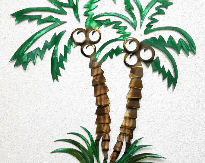 Palm Tree, 16ga Aluminum, Metal Wall Art, Palm Tree Decor, Beach Decor, Ocean Decor, Florida Art, Coastal Art, Palmetto Tree Art, No Rust