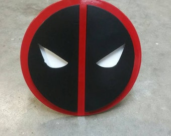 Deadpool Inspired Trailer Hitch Cover, Truck Hitch, Comics Hitch Cover, Trailer Hitch Cover, Handmade Trailer Hitch Cover