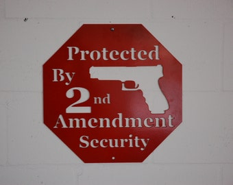 Protected by Second Amendment Security, 2nd Amendment Sign