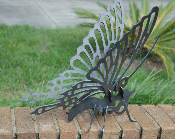 Butterfly Garden Art, Outdoor Yard Art, Garden Art, Garden Sculpture, Metal Butterfly, Butterfly Yard Art, 3D Metal Art, 3D Butterfly